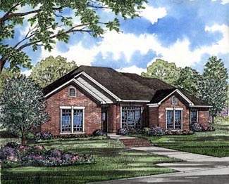 Traditional House Plan 82081 with 4 Beds, 2 Baths, 2 Car Garage Elevation