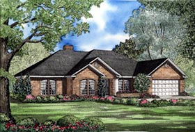 House Plan 82082 | European Traditional Style Plan with 2107 Sq Ft, 4 Bedrooms, 3 Bathrooms, 2 Car Garage Elevation