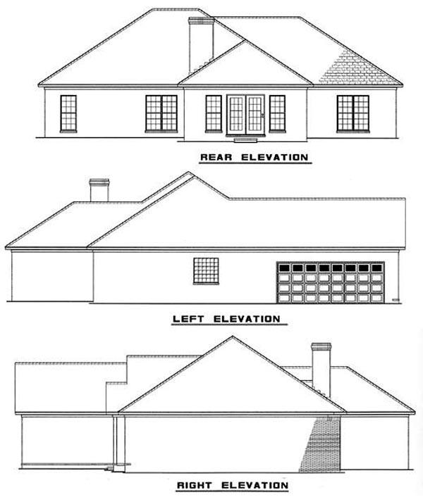 European House Plan 82084 Rear Elevation