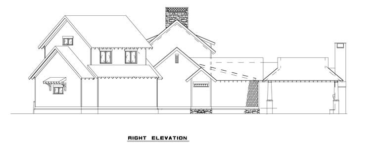 Country, Craftsman, Farmhouse House Plan 82085 with 5 Beds, 4 Baths, 2 Car Garage Picture 2