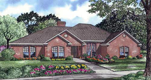 European House Plan 82088 Elevation