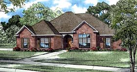 European House Plan 82089 with 3 Beds, 3 Baths, 2 Car Garage Elevation