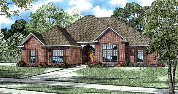 European House Plan 82089 Elevation