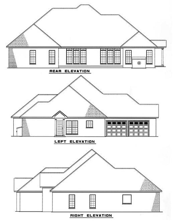 European House Plan 82089 Rear Elevation