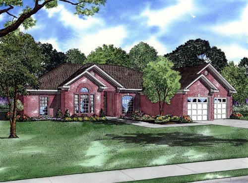European House Plan 82091 Elevation