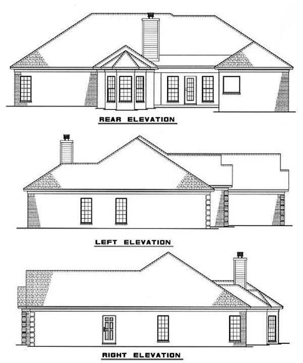 European House Plan 82091 Rear Elevation