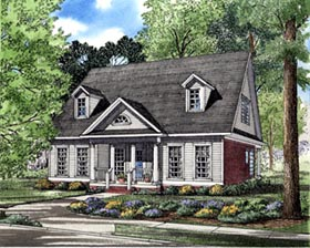 Cape Cod Colonial House Plan 82099 Elevation