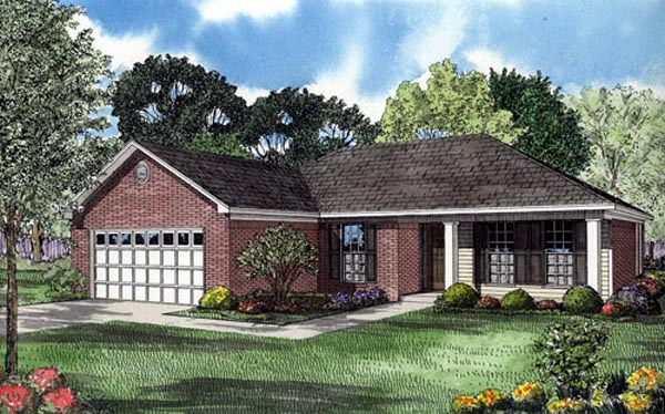 Ranch Traditional House Plan 82101 Elevation