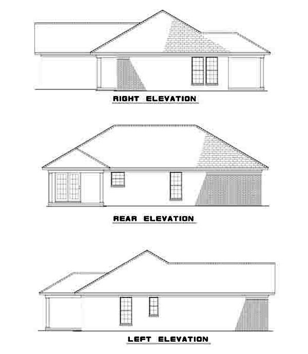 Ranch Traditional House Plan 82101 Rear Elevation