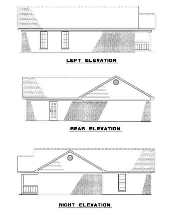 Ranch House Plan 82102 Rear Elevation