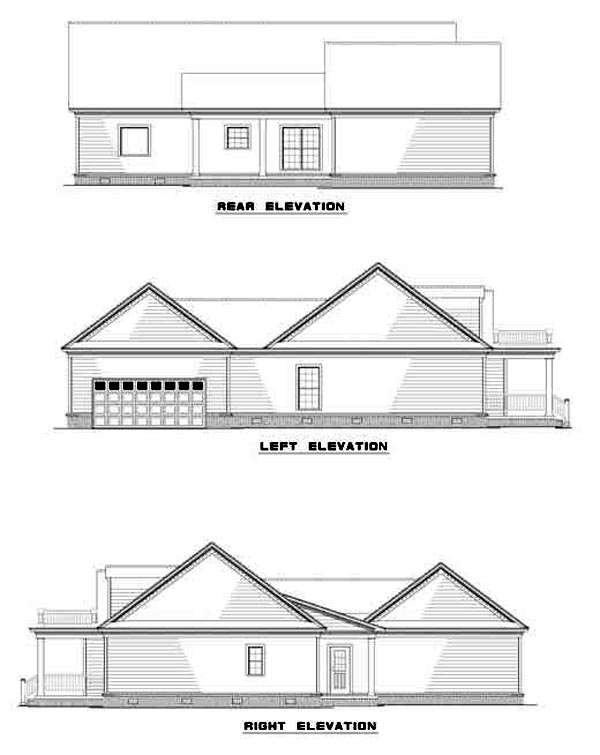 Cape Cod Colonial Country House Plan 82104 Rear Elevation