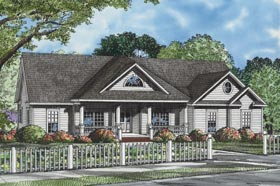 House Plan 82106 | Ranch Style House Plan with 2163 Sq Ft, 3 Bed, 2 Bath, 2 Car Garage Elevation