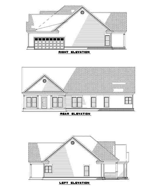 Ranch House Plan 82106 Rear Elevation