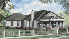 Ranch House Plan 82107 with 3 Beds, 2 Baths, 2 Car Garage Elevation