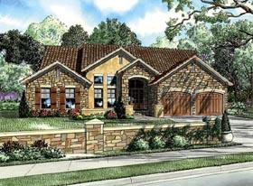 Craftsman , Italian , Mediterranean House Plan 82109 with 3 Beds, 2 Baths, 2 Car Garage Elevation