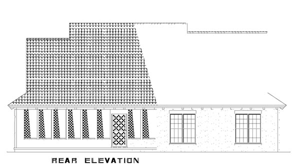 Craftsman Italian Mediterranean House Plan 82113 Rear Elevation