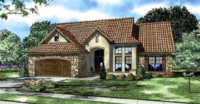 Italian Mediterranean Tuscan House Plan 82120 Elevation