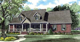 Country Farmhouse House Plan 82123 Elevation