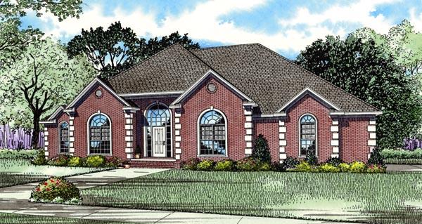 European Traditional House Plan 82124 Elevation