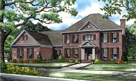 Colonial European Plantation House Plan 82126 Elevation
