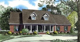 Cape Cod Colonial Country House Plan 82127 Elevation