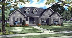 European , Traditional House Plan 82128 with 4 Beds, 4 Baths, 3 Car Garage Elevation
