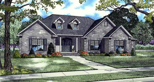 European, Traditional House Plan 82128 with 4 Beds, 4 Baths, 3 Car Garage Elevation