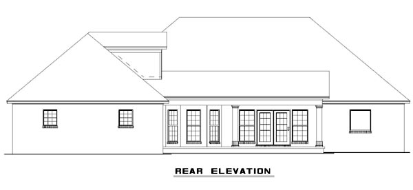 European Traditional House Plan 82128 Rear Elevation
