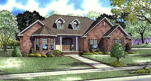 European Traditional House Plan 82129 Elevation