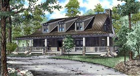 Cabin Country Southern House Plan 82131 Elevation