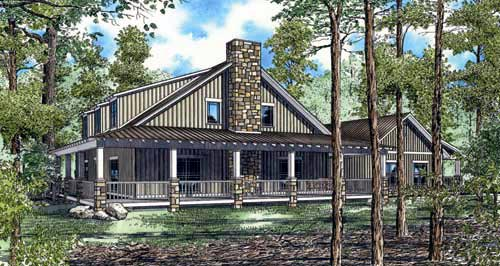 Cabin, Country, Southern House Plan 82131 with 10 Beds, 4 Baths Picture 1