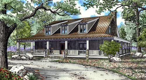 Country House Plan 82132 with 10 Beds, 3 Baths Elevation