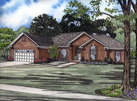House Plan 82134 | Traditional Style Plan with 2007 Sq Ft, 4 Bed, 2 Bath, 2 Car Garage Elevation
