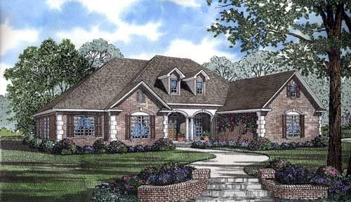 European House Plan 82138 Elevation