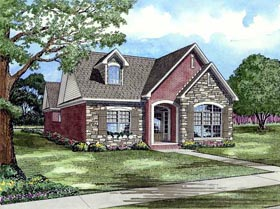 Traditional House Plan 82139 with 3 Beds, 2 Baths, 2 Car Garage Elevation