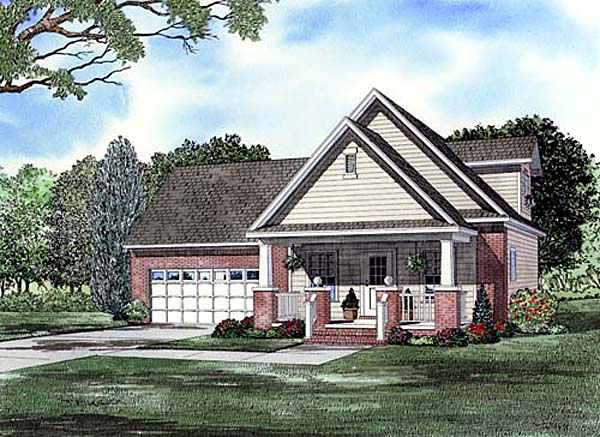 Traditional House Plan 82142 with 3 Beds, 2 Baths, 1 Car Garage Elevation