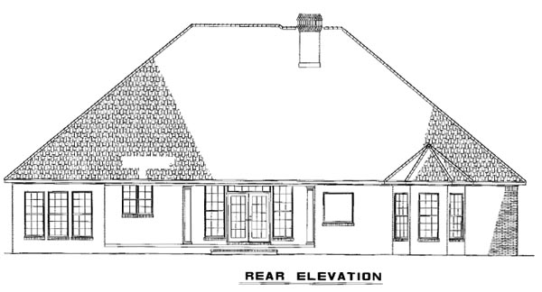 Traditional House Plan 82143 Rear Elevation