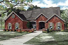 House Plan 82144 | Traditional Style Plan with 2135 Sq Ft, 4 Bedrooms, 2 Bathrooms, 2 Car Garage Elevation