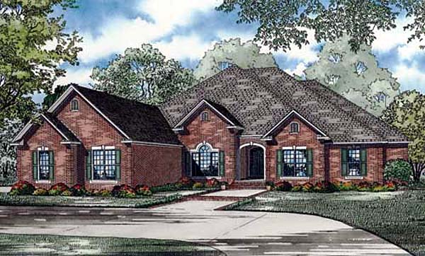 European House Plan 82145 Elevation