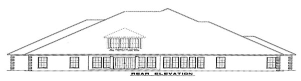 European House Plan 82145 Rear Elevation