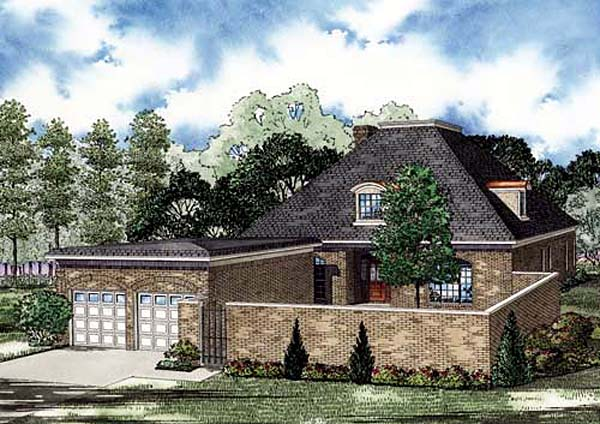 European House Plan 82146 with 4 Beds, 3 Baths, 2 Car Garage Elevation
