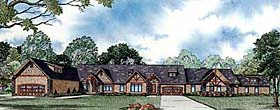 Ranch Multi-Family Plan 82147 with 9 Beds, 6 Baths, 4 Car Garage Elevation