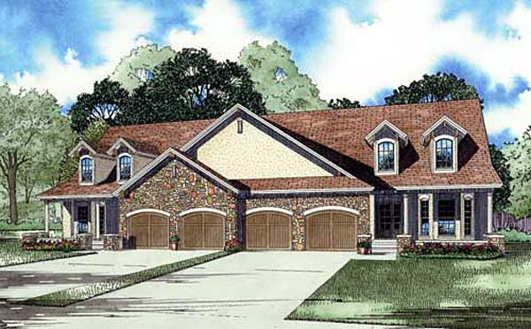 Traditional House Plan 82149 with 2 Beds, 3 Baths, 2 Car Garage Elevation