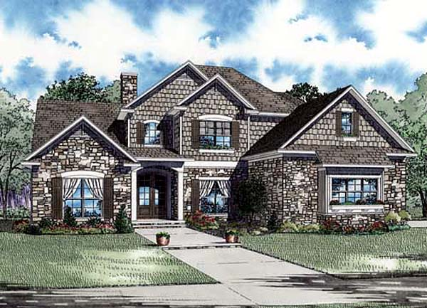 Craftsman House Plan 82150 with 3 Beds, 3 Baths, 3 Car Garage Elevation