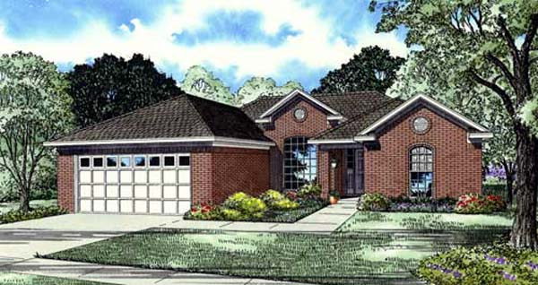Traditional House Plan 82151 with 4 Beds, 2 Baths, 2 Car Garage Elevation