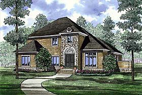 House Plan 82153 | Contemporary Traditional Style Plan with 3578 Sq Ft, 5 Bedrooms, 4 Bathrooms, 3 Car Garage Elevation
