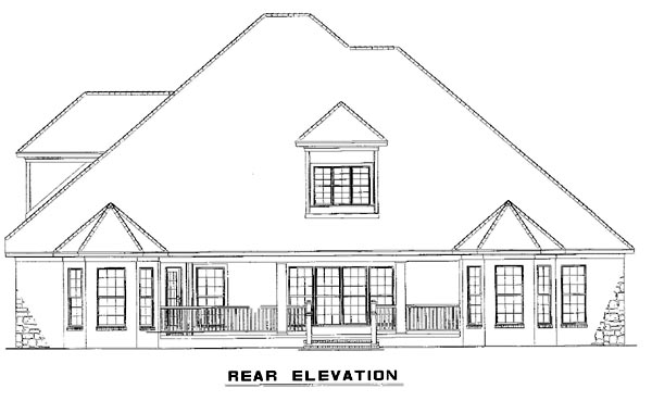 Craftsman House Plan 82154 Rear Elevation