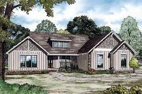 House Plan 82159 | Traditional Style Plan with 3016 Sq Ft, 4 Bedrooms, 5 Bathrooms, 2 Car Garage Elevation