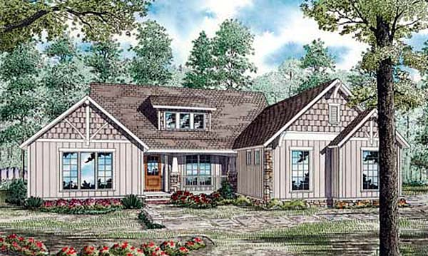 Traditional House Plan 82160 with 4 Beds , 5 Baths , 2 Car Garage Elevation