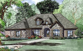 Craftsman European House Plan 82163 Elevation